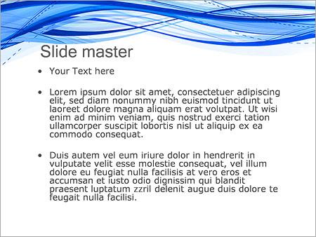 Шаблон PowerPoint Абстрактные синие волны - Второй слайд