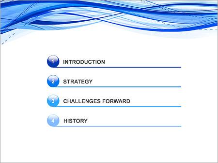 Шаблон для презентации Абстрактные синие волны - Третий слайд