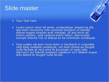 Шаблон PowerPoint Кабель USB - Второй слайд