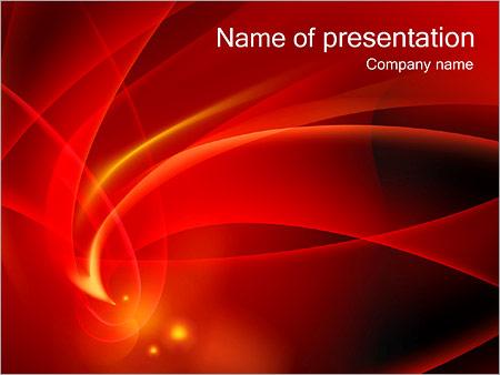 Шаблон презентации Красная абстракция - Титульный слайд