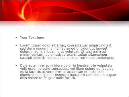 Шаблон PowerPoint Красная абстракция - Второй слайд