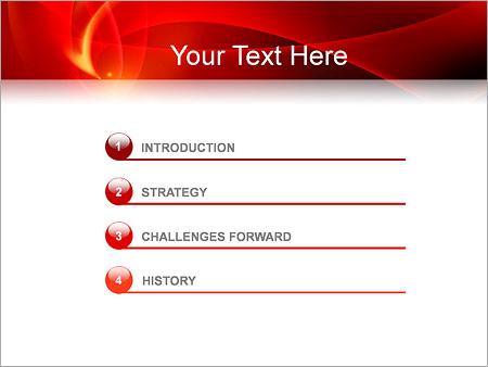 Шаблон для презентации Красная абстракция - Третий слайд