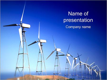 Шаблон презентации Ветряные электростанции - Титульный слайд