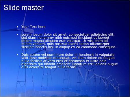 Шаблон PowerPoint Ветряные электростанции - Второй слайд
