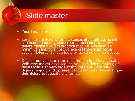 Шаблон PowerPoint Елочный шар - Второй слайд