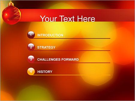 Шаблон для презентации Елочный шар - Третий слайд