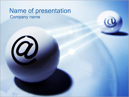 Шаблон презентации Электронные почта - Титульный слайд