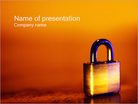 Шаблон презентации Навесной замок - Титульный слайд