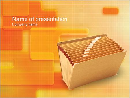 Шаблон презентации Папка для документов - Титульный слайд