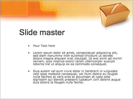 Шаблон PowerPoint Папка для документов - Второй слайд