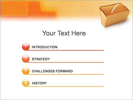 Шаблон для презентации Папка для документов - Третий слайд