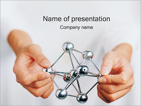 Шаблон презентации Модель молекулы в руках - Титульный слайд