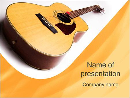 Шаблон презентации Акустическая гитара - Титульный слайд