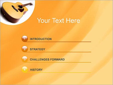 Шаблон для презентации Акустическая гитара - Третий слайд