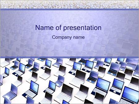 Шаблон презентации Много ноутбуков - Титульный слайд