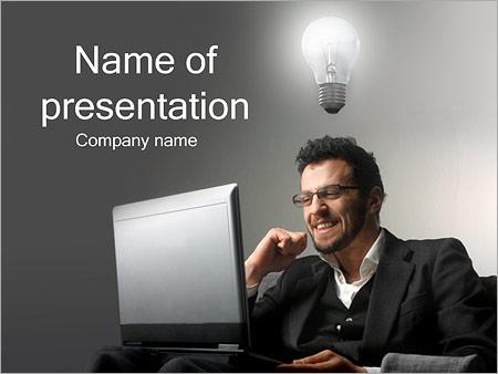 Шаблон презентации Идея у бизнесмена - Титульный слайд