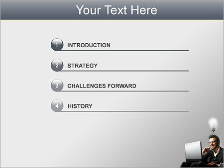 Шаблон для презентации Идея у бизнесмена - Третий слайд