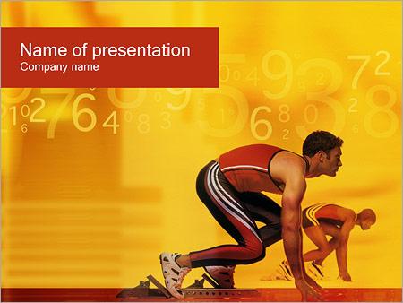 Шаблон презентации Спортсмен бегун - Титульный слайд