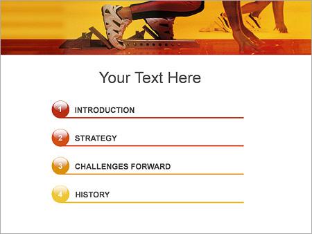 Шаблон для презентации Спортсмен бегун - Третий слайд