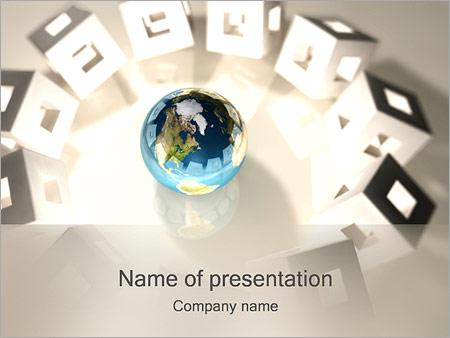 Шаблон презентации Кубики вокруг земного шара - Титульный слайд
