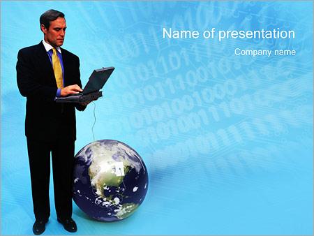 Шаблон презентации Бизнес на связи - Титульный слайд