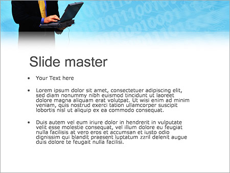 Шаблон PowerPoint Бизнес на связи - Второй слайд