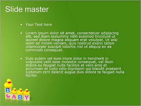 Шаблон PowerPoint Детские игры - Второй слайд