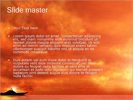 Шаблон PowerPoint Военный корабль - Второй слайд