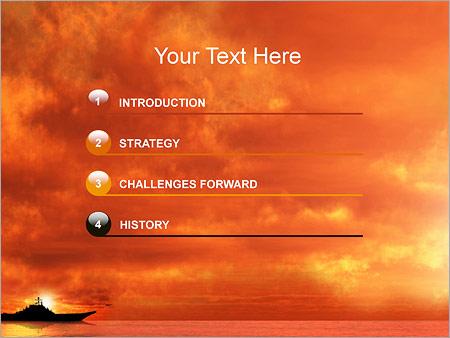 Шаблон для презентации Военный корабль - Третий слайд
