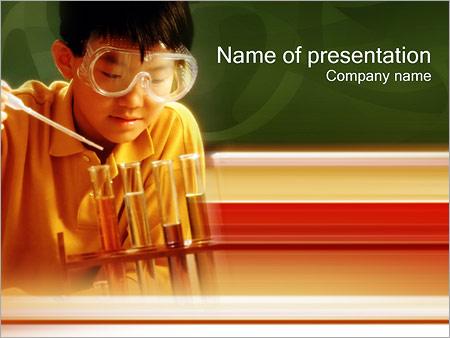 Шаблон презентации Химия - Титульный слайд
