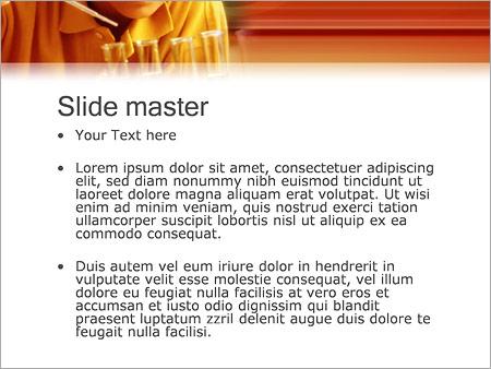 Шаблон PowerPoint Химия - Второй слайд