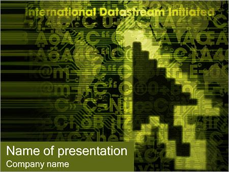 Шаблон презентации Указатель мыши - Титульный слайд