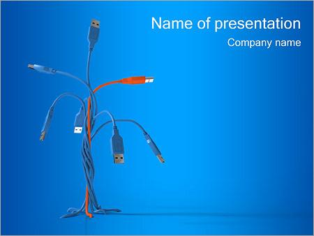 Шаблон презентации Разъемы USB - Титульный слайд