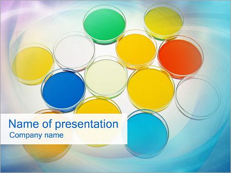 Шаблон презентации Краски на палитре - Титульный слайд