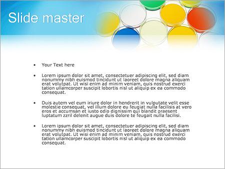 Шаблон PowerPoint Краски на палитре - Второй слайд