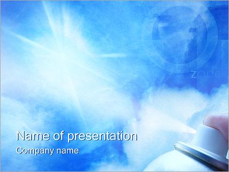 Шаблон презентации Разрушение озонового слоя - Титульный слайд