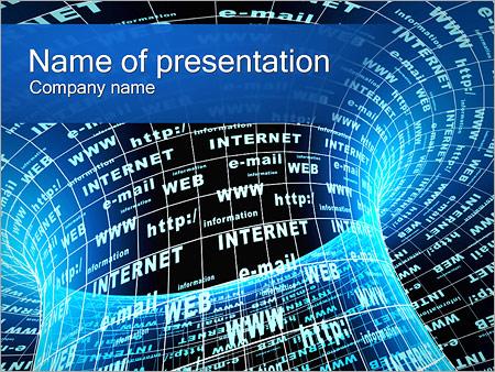 Шаблон презентации Интернет - Титульный слайд