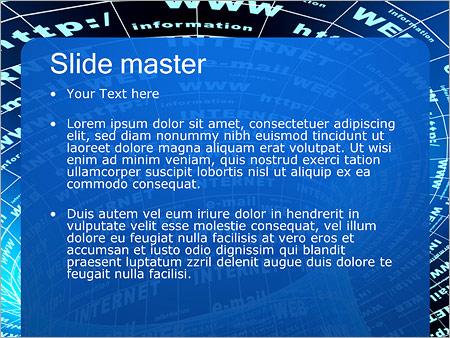 Шаблон PowerPoint Интернет - Второй слайд
