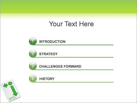 Шаблон для презентации Пропуск-карта - Третий слайд