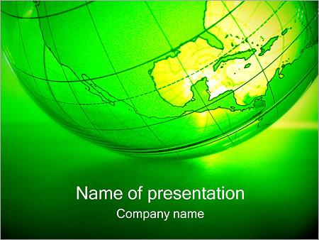 Шаблон презентации Зеленая планета земля - Титульный слайд
