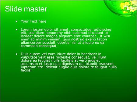 Шаблон PowerPoint Зеленая планета земля - Второй слайд