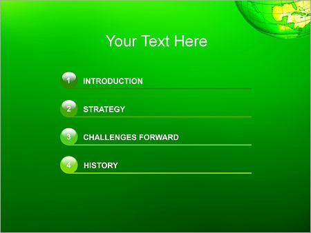 Шаблон для презентации Зеленая планета земля - Третий слайд