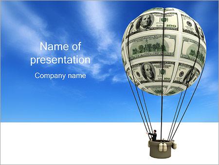 Шаблон презентации Воздушный шар из денег - Титульный слайд