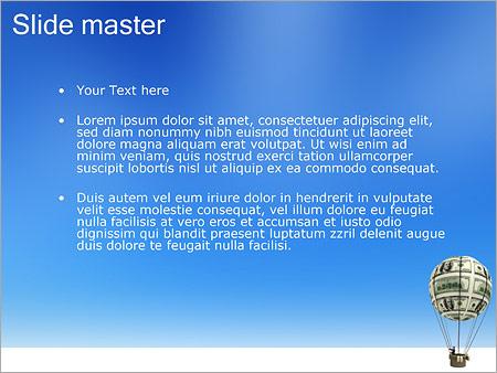 Шаблон PowerPoint Воздушный шар из денег - Второй слайд