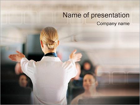 Шаблон презентации Стюардесса - Титульный слайд