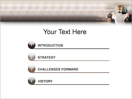 Шаблон для презентации Стюардесса - Третий слайд