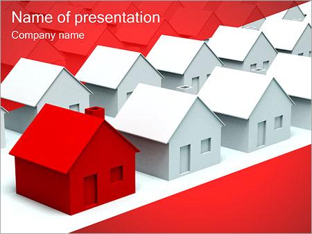 Шаблон презентации Улица из домов - Титульный слайд