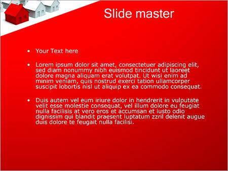 Шаблон PowerPoint Улица из домов - Второй слайд