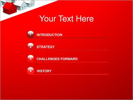 Шаблон для презентации Улица из домов - Третий слайд