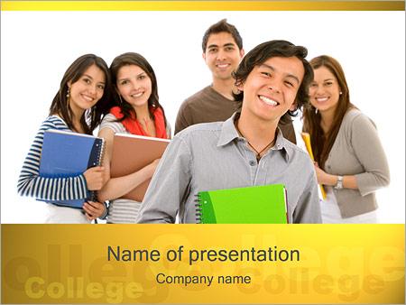 Шаблон презентации Студенты колледжа - Титульный слайд